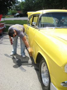 clean your classic car before taking it out for its first Spring trip
