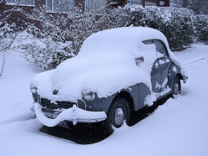 don't venture out in your classic car if there is too much snow on the ground