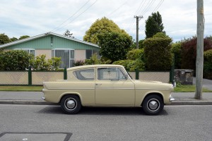 This 1964 Ford Anglia is a classic car